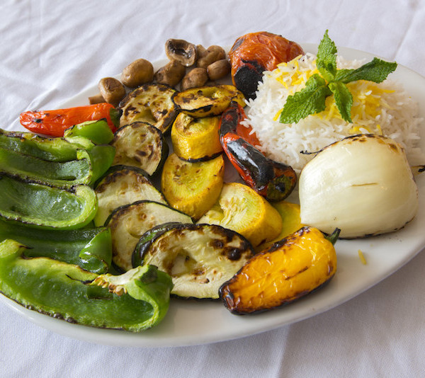 (44) Veggie Kabob- Served With Rice (when available)